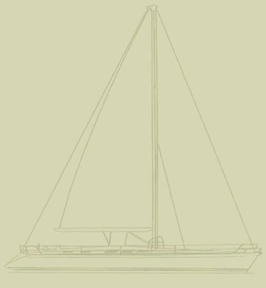 Yacht Ibis Dufour 48 Prestige Line Drawing